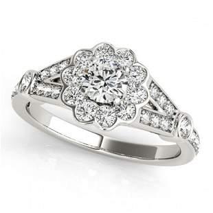 1.9 ctw Certified VS/SI Diamond Halo Ring 18k White