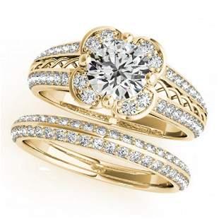 2.41 ctw Certified VS/SI Diamond 2pc Wedding Set Halo