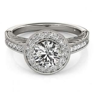 0.81 ctw Certified VS/SI Diamond Halo Ring 18k White