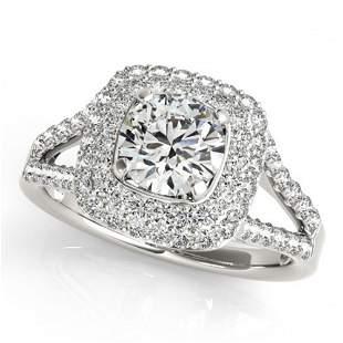 1.53 ctw Certified VS/SI Diamond Halo Ring 18k White