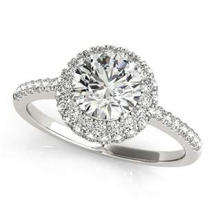 1.6 ctw Certified VS/SI Diamond Halo Ring 18k White