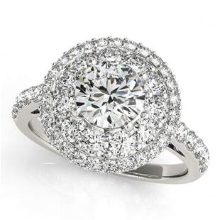 1.5 ctw Certified VS/SI Diamond Halo Ring 18k White