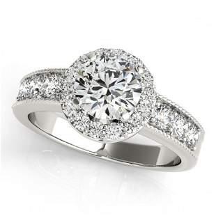 1.85 ctw Certified VS/SI Diamond Halo Ring 18k White