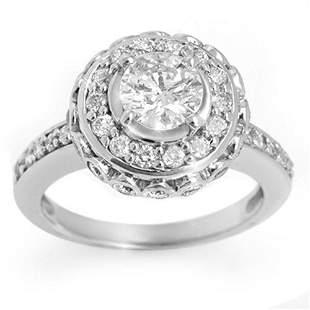 2.04 ctw Certified VS/SI Diamond Ring 18k White Gold -