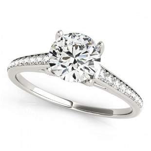 2 ctw Certified VS/SI Diamond Ring 18k White Gold -