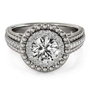 1.15 ctw Certified VS/SI Diamond Halo Ring 18k White