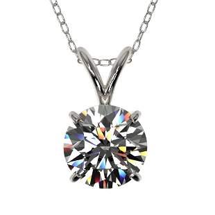 1.07 ctw Certified Quality Diamond Necklace 10k White