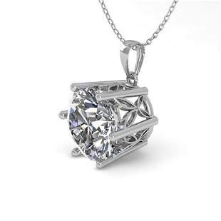 1 ctw Certified VS/SI Diamond Solitaire Necklace 18k