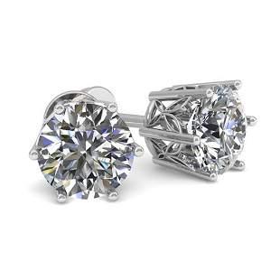 0.50 ctw Certified VS/SI Diamond Stud Earrings 18k