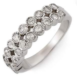 0.75 ctw Certified VS/SI Diamond Ring 14k White Gold -