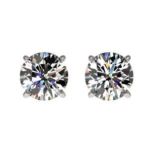 1 ctw Certified Quality Diamond Stud Earrings 10k White