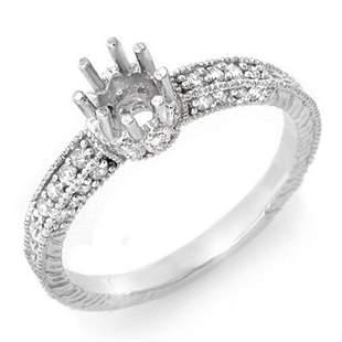 0.50 ctw Certified VS/SI Diamond Ring 14k White Gold -