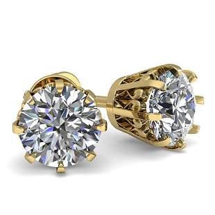 1.03 ctw VS/SI Diamond Stud Solitaire Earrings Vintage