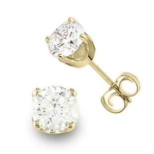 0.90 ctw Certified VS/SI Diamond Stud Earrings 14k