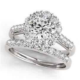 2.14 ctw Certified VS/SI Diamond 2pc Wedding Set Halo