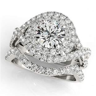 2.26 ctw Certified VS/SI Diamond 2pc Wedding Set Halo