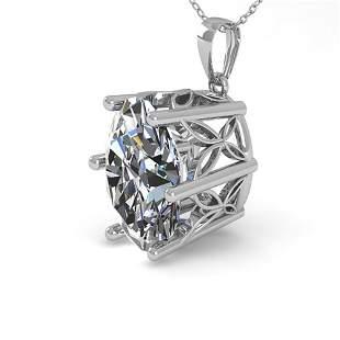 1 ctw VS/SI Oval Diamond Solitaire Necklace 18k White