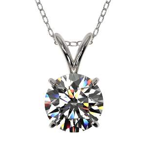 1.04 ctw Certified Quality Diamond Necklace 10k White
