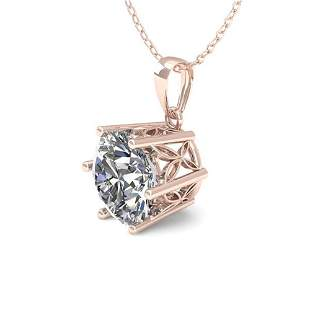 0.50 ctw VS/SI Diamond Solitaire Necklace 18k Rose Gold