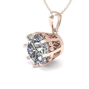1 ctw VS/SI Diamond Solitaire Necklace Vintage 18k Rose