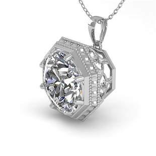 1 ctw VS/SI Diamond Solitaire Necklace Art Deco 18k