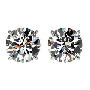 2.05 ctw Certified Quality Diamond Stud Earrings 10k