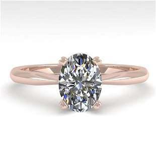 1.01 ctw Oval Cut VS/SI Diamond Engagment Designer Ring
