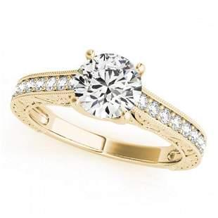 1.32 ctw Certified VS/SI Diamond Ring 18k Yellow Gold -