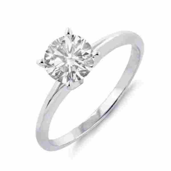 1.0 ctw Certified VS/SI Diamond Solitaire Ring 14k