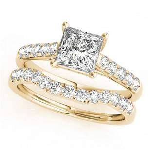 1.8 ctw VS/SI Princess Diamond 2pc Wedding Set 14k