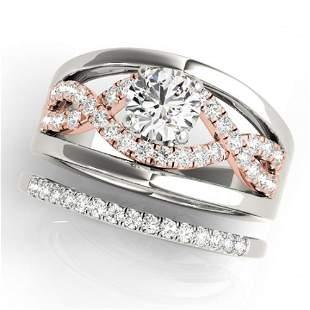 1.54 ctw Certified VS/SI Diamond Solitaire 2pc Set 14k