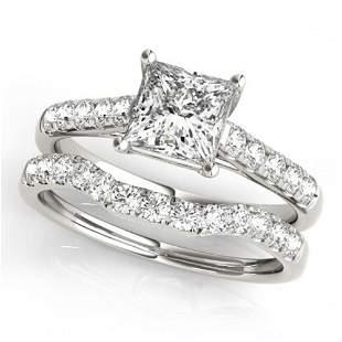 1.21 ctw VS/SI Princess Diamond 2pc Wedding Set 14k