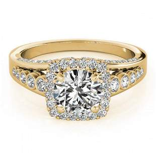 1.75 ctw Certified VS/SI Diamond Halo Ring 18k Yellow