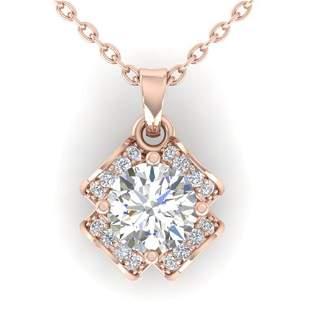 0.95 ctw VS/SI Diamond Art Deco Stud Necklace 14k Rose