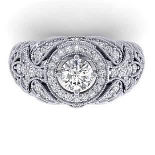 2.35 ctw Certified VS/SI Diamond Art Deco Ring 14k