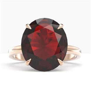 9 ctw Garnet Designer Solitaire Engagment Ring 14k Rose