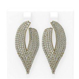 7 ctw Diamond Earrings 18K Yellow Gold - REF-531W3H