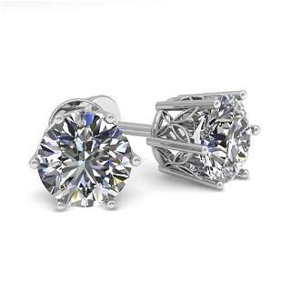 1.55 ctw Certified VS/SI Diamond Stud Earrings 18k