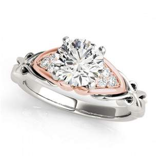 1.35 ctw Certified VS/SI Diamond Solitaire Ring 18k