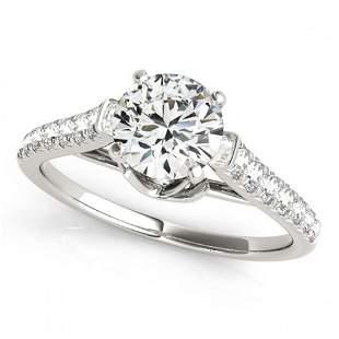 .25 ctw Certified VS/SI Diamond Ring 18k White Gold -