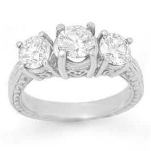 2.0 ctw Certified VS/SI Diamond 3 Stone Ring 18k White