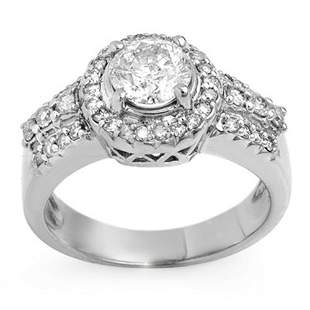 1.65 ctw Certified VS/SI Diamond Ring 14k White Gold -