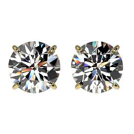 2.11 ctw Certified Quality Diamond Stud Earrings 10k