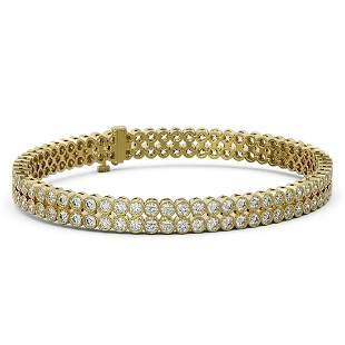9 ctw Diamond Designer Bracelet 18K Yellow Gold -
