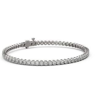 4.5 ctw Diamond Designer Bracelet 18K White Gold -