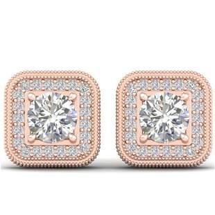 2 ctw Certified VS/SI Diamond Art Deco Micro Stud
