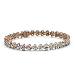 13 ctw Diamond Designer Bracelet 18K Rose Gold -
