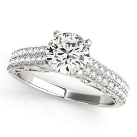 1.41 ctw Certified VS/SI Diamond Antique Ring 18k White