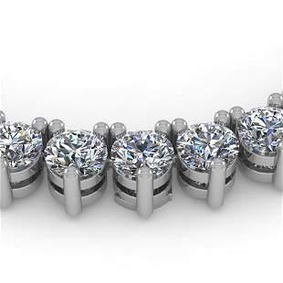 38 ctw 3 Prong Diamond Riviera Necklace 14K White Gold
