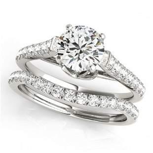 1.79 ctw Certified VS/SI Diamond 2pc Wedding Set 14k